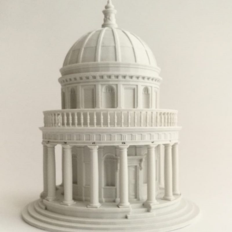Tempietto scale model 3D printed by Essence 3D Printing